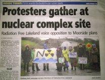 Protestors gather at Moorside site