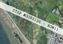 """Moorside - """"the boggles"""" Bog Holes - flood plain of the River Ehen. Where the !! are is the approximate location of Sellafield Tarn - long since filled in with nuclear crapola"""