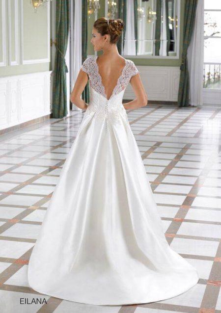 vestido de novia blanco sencillo elegante espalda libre