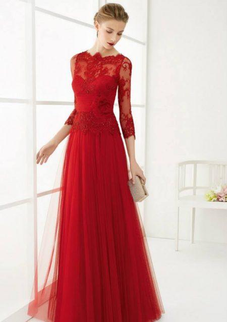 Vestidos de madrina rojo