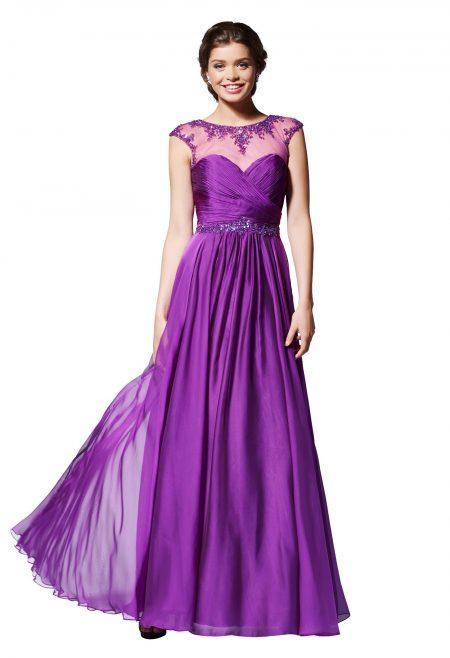 vestidos de fiesta violeta, marian novias