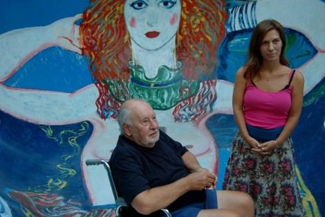 Roux en la pileta (foto Gerardo Korn)