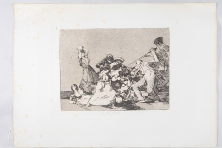 Y son fieras - 1892 - Aguafuerte sobre papel - Serie Desastres de la guerra - MNBA