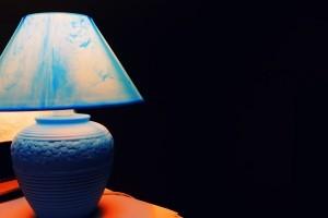 голубая лампа