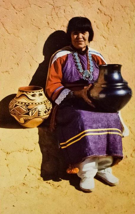 Maria Martinez with pot