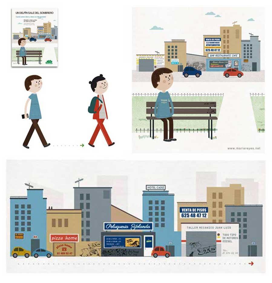 Dibujos sobre síndrome de Asperger. Integración y educación
