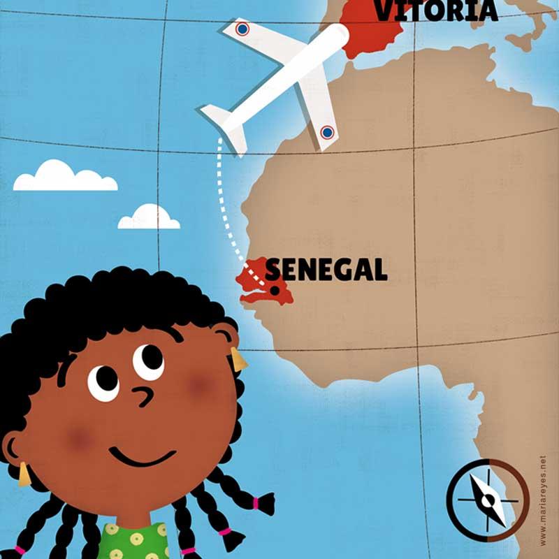 Ilustración de portada: Dieneba de Senegal a Vitoria