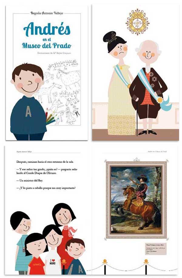Ilustraciones libro educativo Museo del Prado