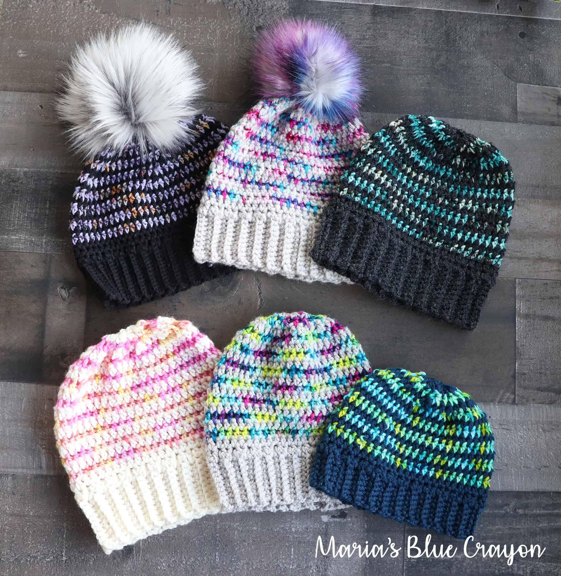 Easy Crochet Hat Pattern W Variegated Or Scrap Yarn