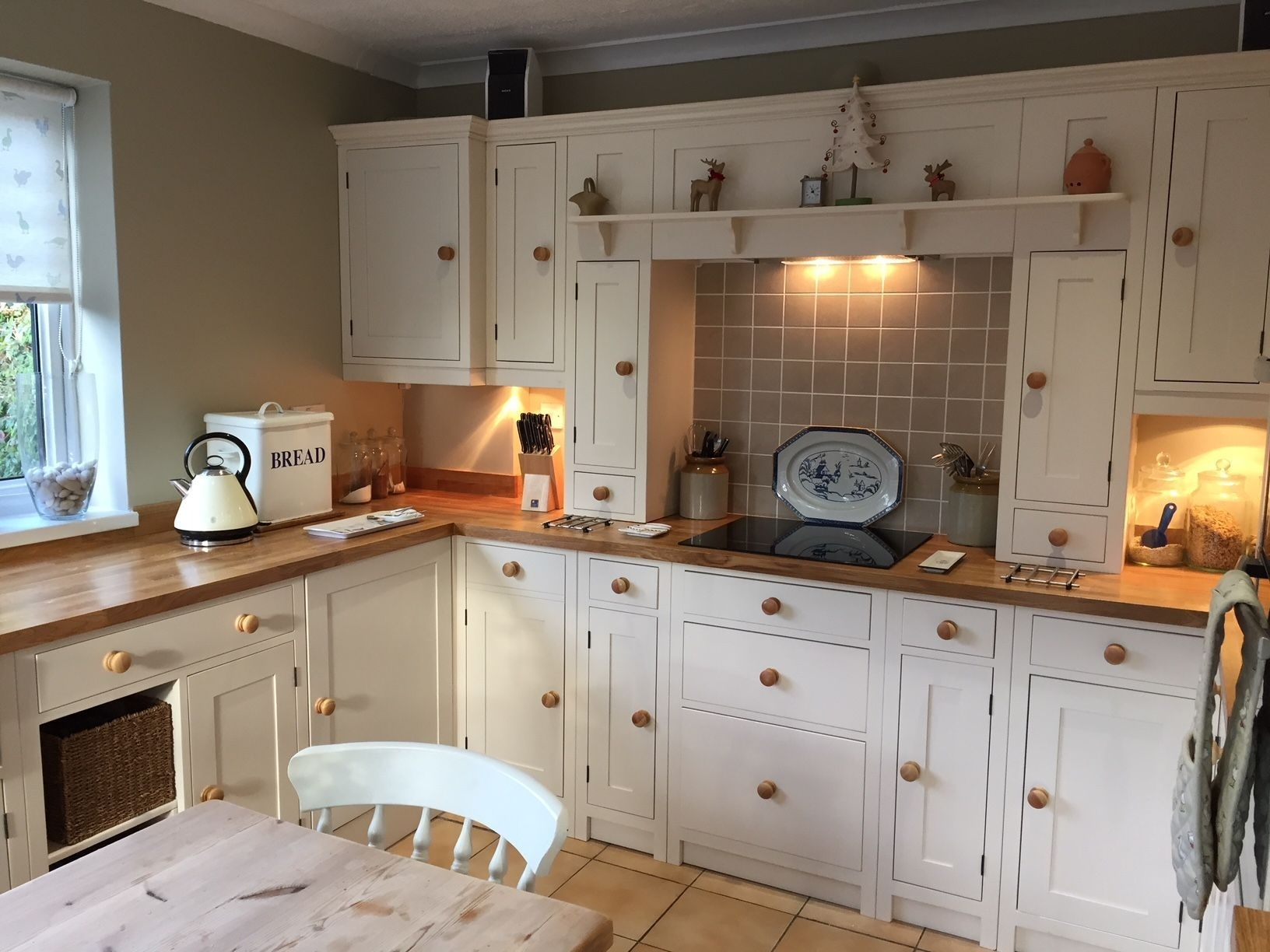 country style painted 3 drawer kitchen cabinet 500mm regarding Country Kitchen Cabinets