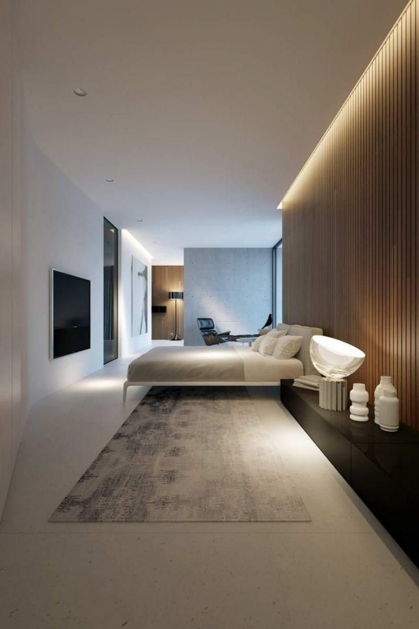 Discover This Modern Bedroom With Hidden Lighting intended for Modern Bedroom With Lighting - modern bedroom with lighting