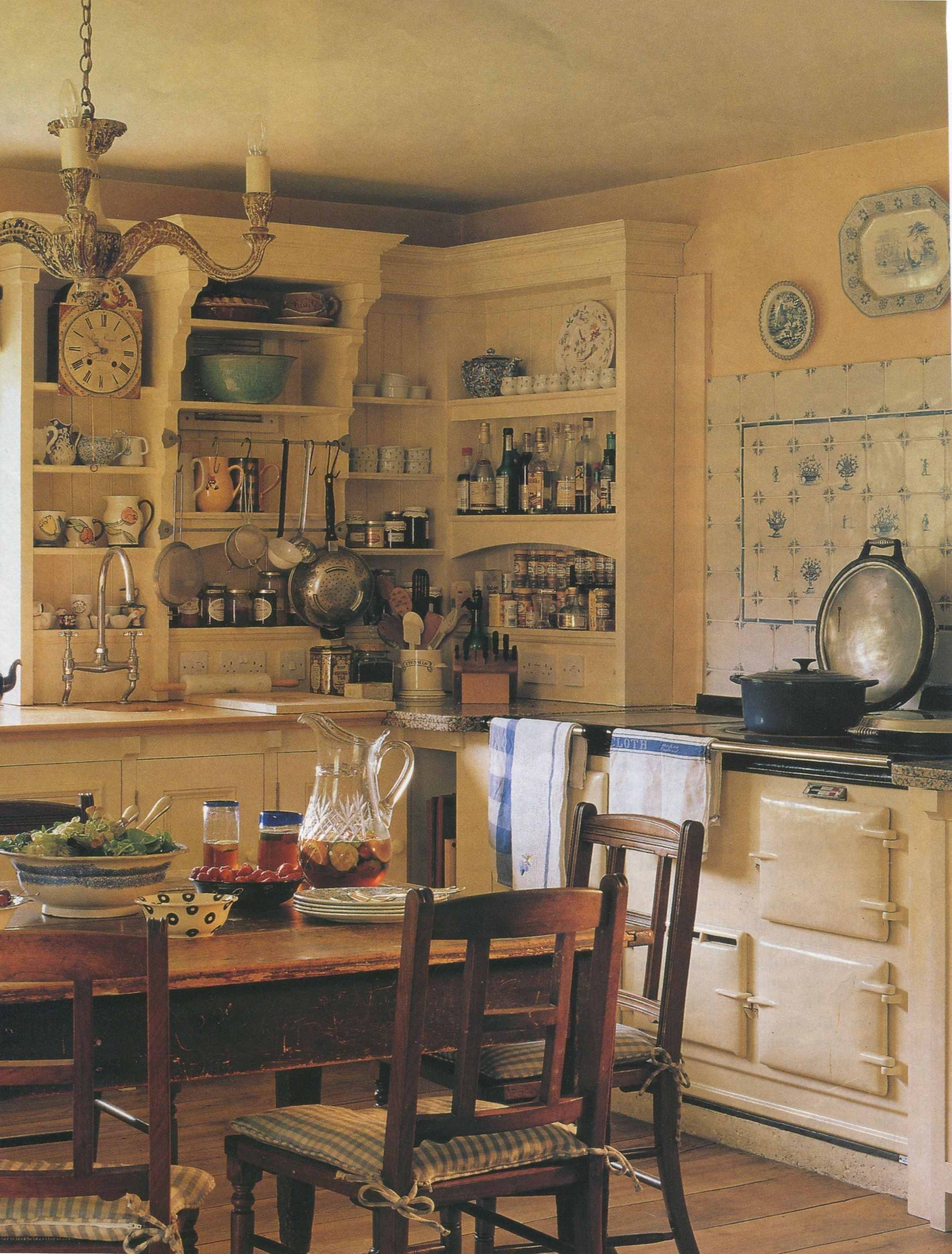 english country cottage kitchen from traditional home magazine 1996 inside Country Kitchen Pictures