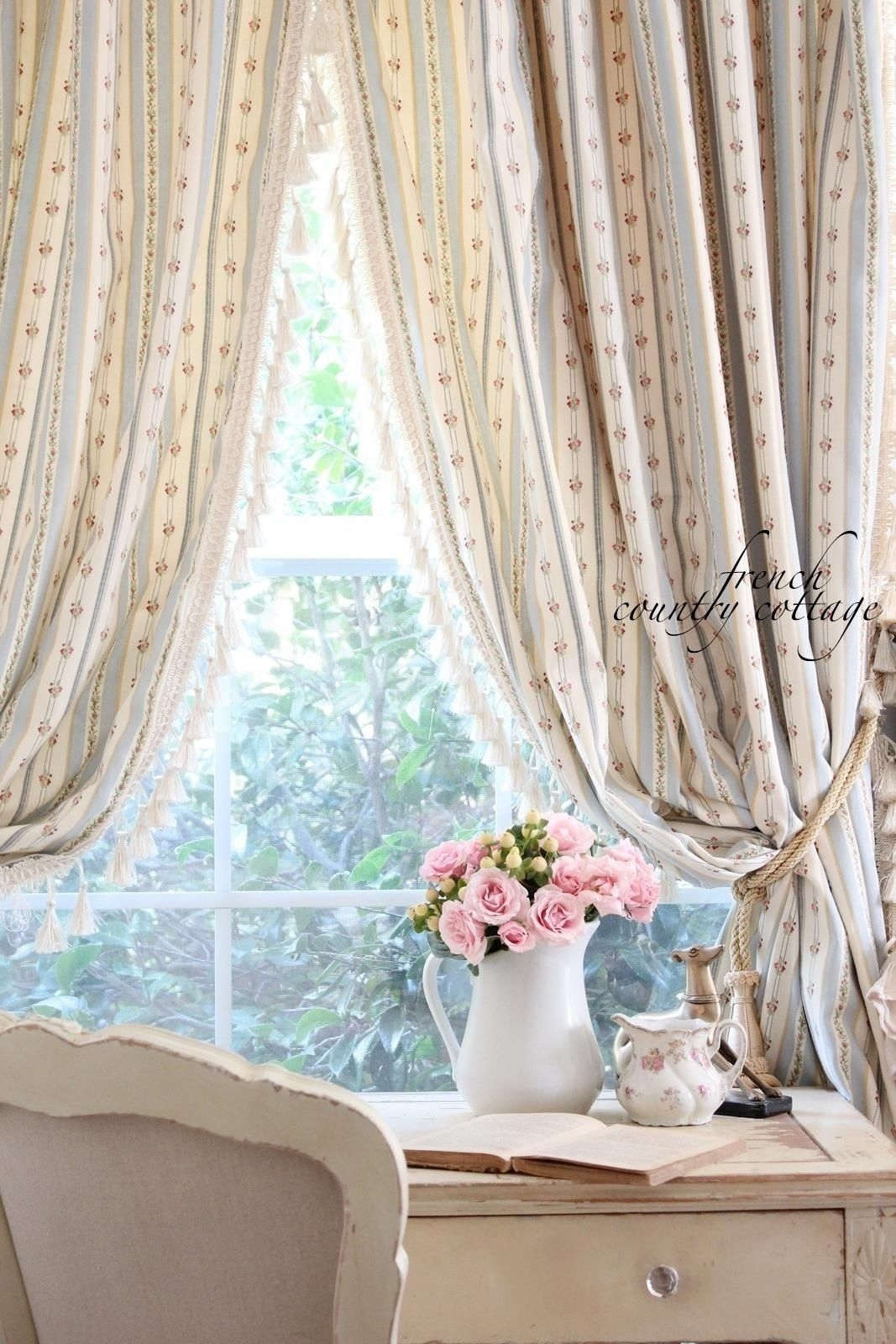 shabby chic french country curtains | for the home | pinterest for pertaining to French Country Curtains