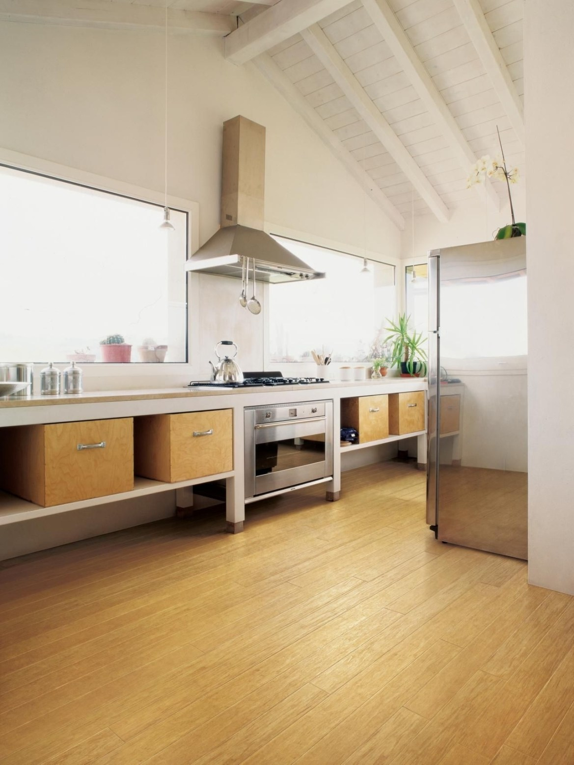 bamboo flooring for the kitchen   flooring   plywood kitchen in Kitchen Flooring Ideas