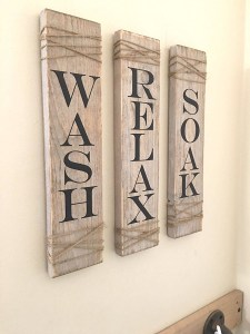 decorative wooden bathroom signs | creative bathroom decoration intended for Decorate With Primitive Signs