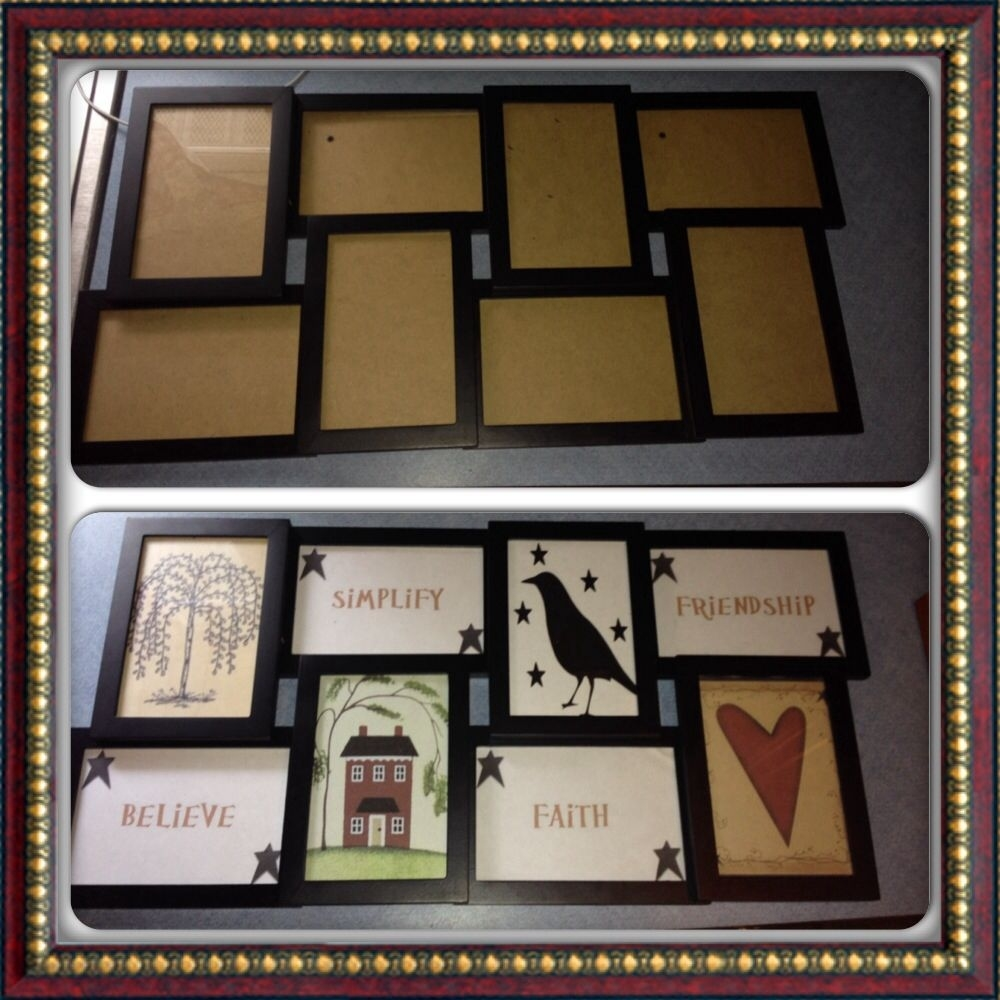 diy primitive country decor, picture frame before/after. used home intended for Decorate With Primitive Signs