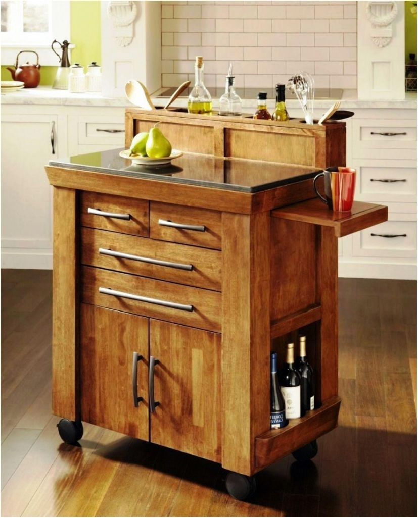 portable kitchen island with seating wheels portable kitchen island throughout Custom Designed Kitchen Islands