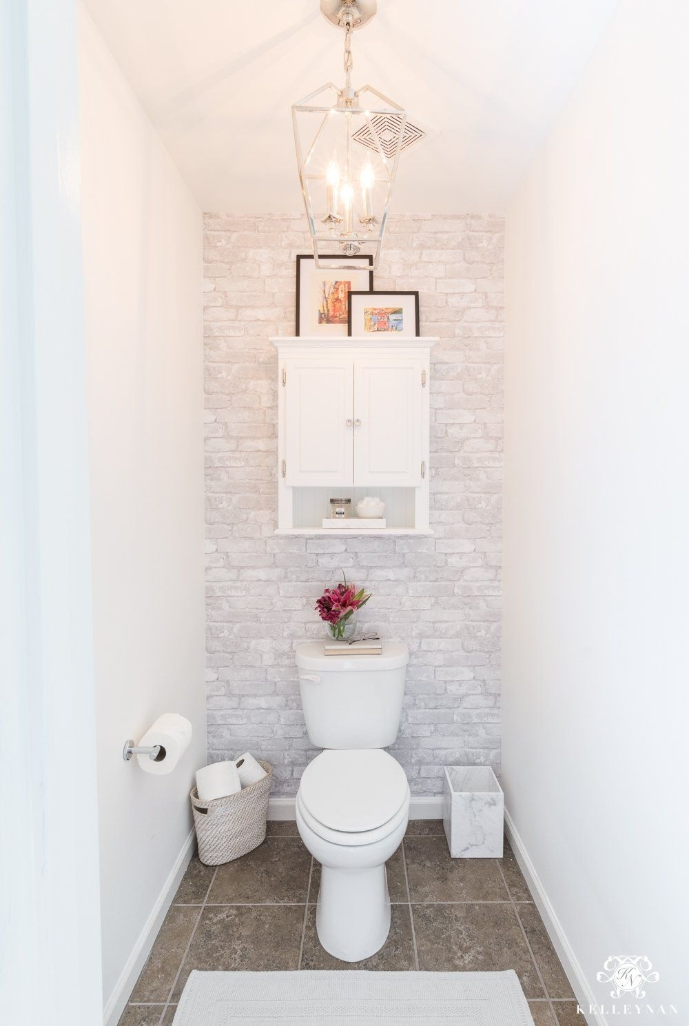 toilet room makeover decorating ideas | influencer inspiration within Decorating The Bathroom
