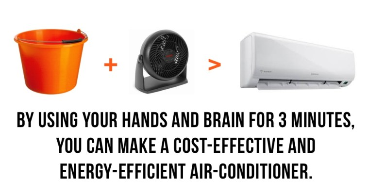 Make Your Energy-Saving DIY Air Conditioner With Simple Tools