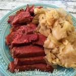 Glazed Crock Pot Corned Beef and Cabbage