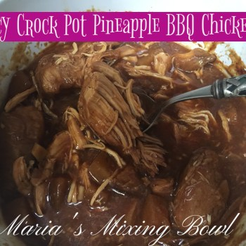 Spicy Crock Pot Pineapple BBQ Chicken