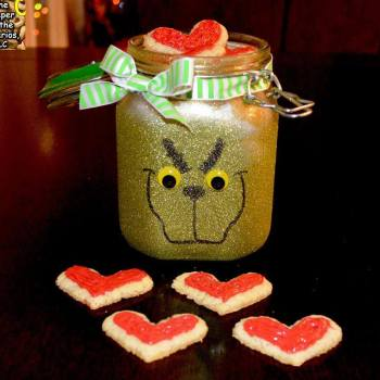DIY GRINCH COOKIE JAR