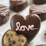 CHOCOLATE CHIP COOKIE DOUGH VALENTINE HEARTS