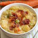 LOADED BROCCOLI CHEESE & POTATO SOUP