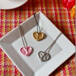 DIY HEART THUMBPRINT CHARM NECKLACE