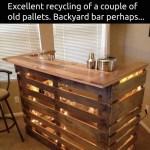 DIY Pallet Backyard Bar!!