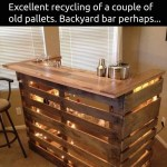 DIY Pallet Backyard Bar!!