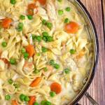 ONE PAN CREAMY CHICKEN WITH NOODLES