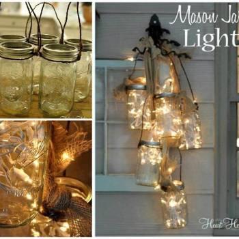 DIY MASON JAR LIGHTS!