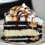 NO BAKE SALTED CARAMEL OREO ICEBOX CAKE