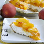 NO BAKE PEACHES AND CREAM PIE