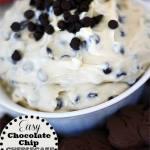 CHOCOLATE CHIP CHEESECAKE DIP