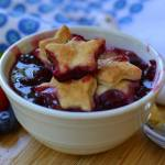 STRAWBERRY BLUEBERRY BLACKBERRY COBBLER