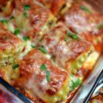 Sausage & Triple Cheese Lasagna Roll Ups