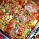 Sausage & Triple Cheese Lasagna Roll Ups