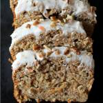 BANANA BREAD WITH CINNAMON CREAM CHEESE FROSTING