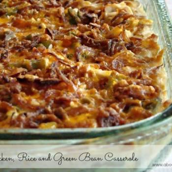 CHICKEN RICE AND GREEN BEAN CASSEROLE