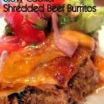 SLOW COOKER SHREDDED BEEF BURRITOS