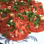 FRESH TOMATOES WITH BASIL CHIFFONADE