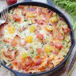 VEGETABLE BACON EGG BAKE SKILLET