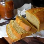PUMPKIN YOGURT POUND CAKE WITH SALTED CARAMEL DRIZZLE