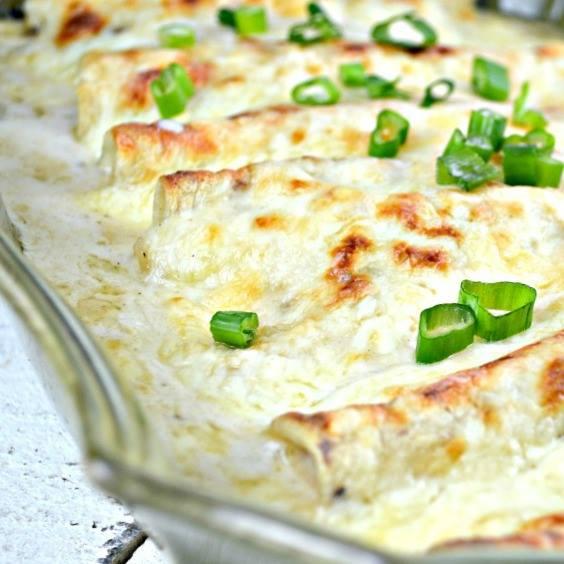 Chicken Enchiladas With Sour Cream White Sauce Maria S Mixing Bowl
