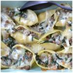 Triple Cheese Sausage Spinach Stuffed Shells