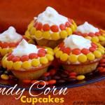 CANDY CORN HALLOWEEN CUPCAKES
