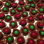 CHRISTMAS CHOCOLATE M & M PRETZELS