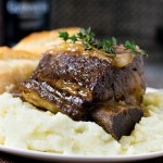BEER BRAISED SHORT RIBS IN THE DUTCH OVEN
